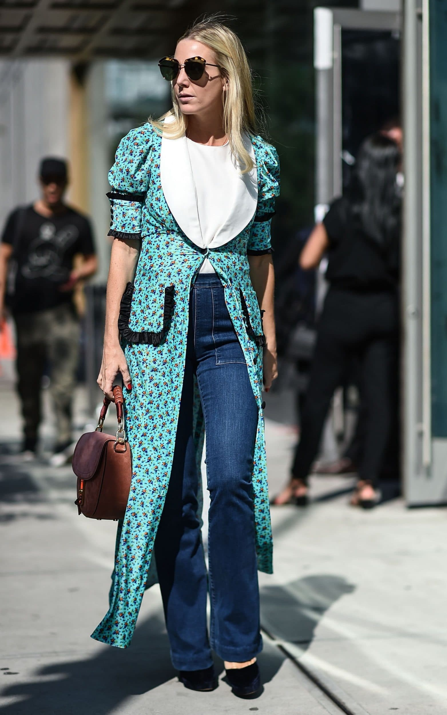 Denim Street Style From New York Fashion Week Ss18 The Jeans Blog