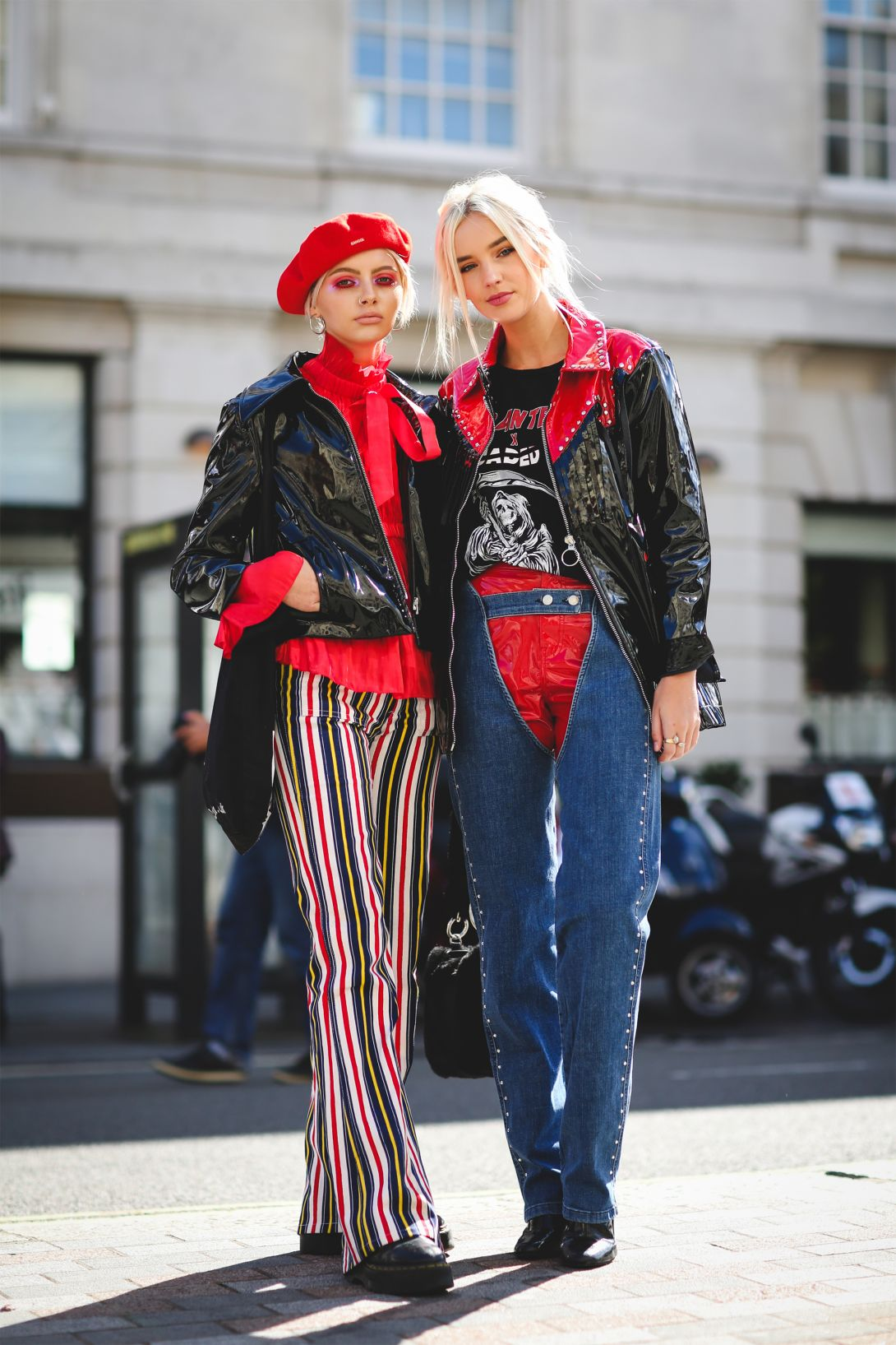 Denim Street Style From London Fashion Week Ss18 The Jeans Blog