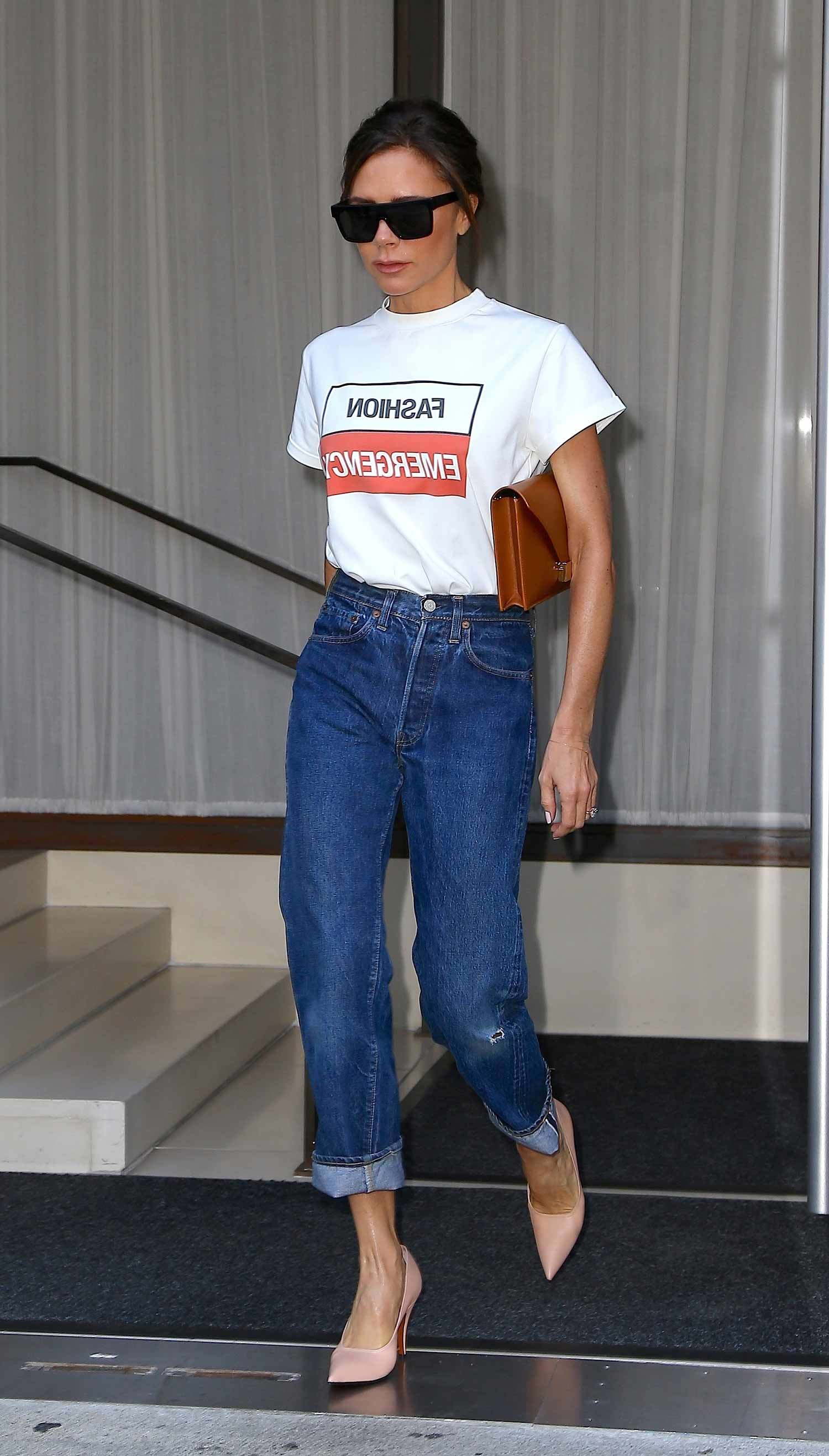 Victoria Beckham In A Fashion Emergency The Jeans Blog